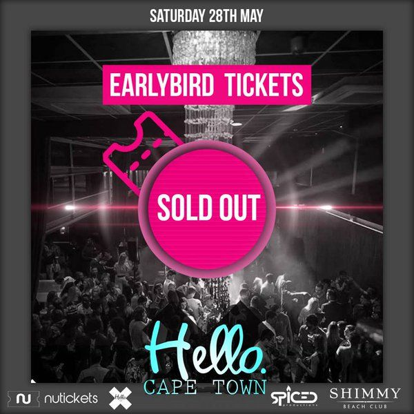 Early Bird tickets SOLD OUT for #HelloCT on 28 May! Phase 1 tickets now available from R120: http://bit.ly/1Ss04RS