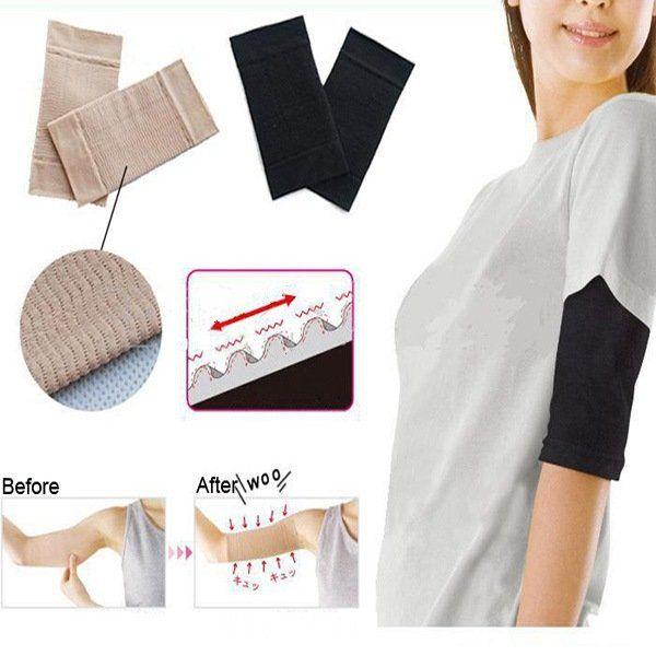Ultra-Thin Wave Arm Slimming Shapewear Massage Sleeve - US$3.99