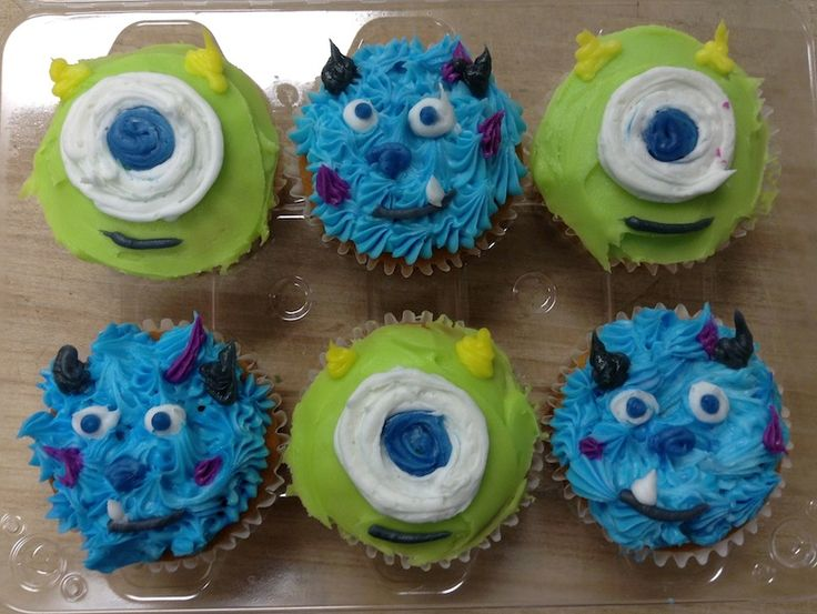 Mike and Sully cupcakes