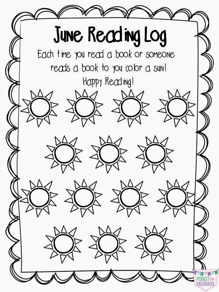 Preschool, PreK, & Kindergarten At Home Reading Logs