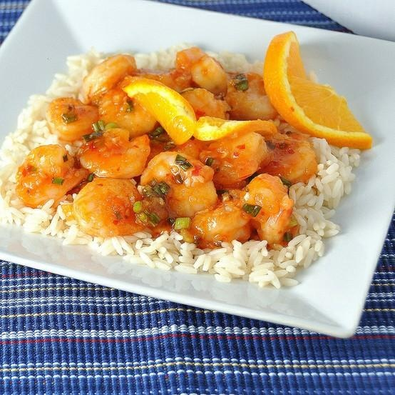 stir-fried shrimp in spicy orange sauce. | kiss the cook | Pinterest