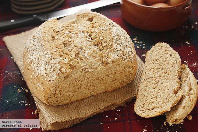 Receta de pan de avena escocés. Fotografías del paso a paso del proceso de elaboración. Foto con sugerencia de presentación. Olimpiada de recetas británicas