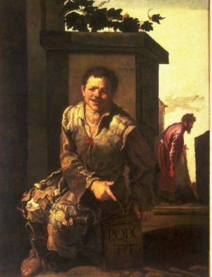 Domenico Fetti (Italian, 1589-1624). The Cynic Philosopher Crates, 1600-1624. The University of Michigan Museum of Art, Michigan. Museum Purchase, 1966. http://www.umma.umich.edu