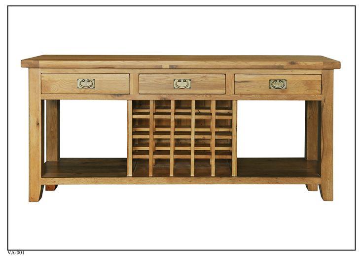 VA-001 Sofa Table w/ wine rack (1800mm x 400mm x 830mm High)