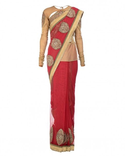 how to wear dhoti saree