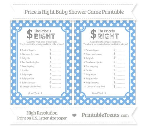 36 best images about baby shower on pinterest water for Price is right bridal shower game template
