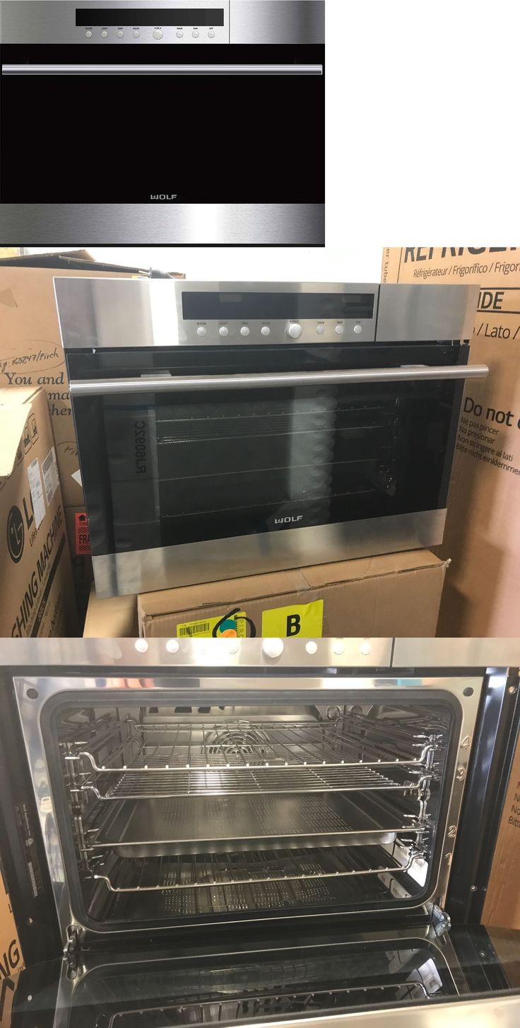 Toaster Ovens 122930: Wolf 24 E Series Stainless Steel Transitional Convection Steam Oven Cso24te Sth -> BUY IT NOW ONLY: $2295 on eBay!