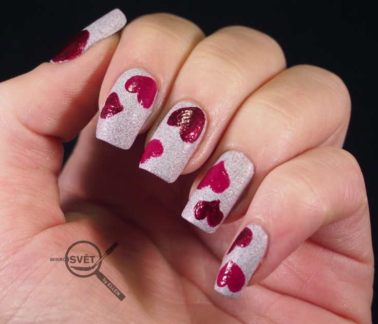 NAIL ART: SPARITUAL VALENTINE CHALLENGE  http://www.mikrosvetbyellen.com/2015/02/nail-art-sparitual-valentine-challenge.html