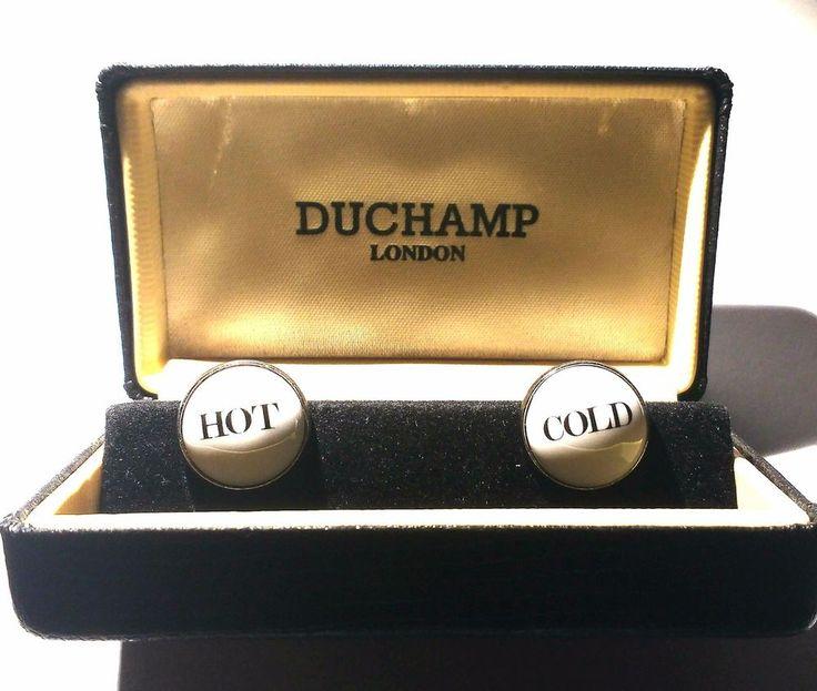 echte DUCHAMP Manschettenknöpfe in Lederschatulle nie benutzt HOT COLD Klassiker | Uhren & Schmuck, Herrenschmuck, Manschettenknöpfe | eBay!