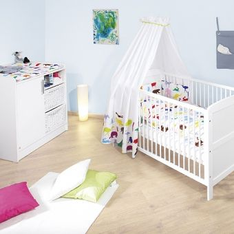 Unique Babyzimmer Set Wickelkommode u Babybett HAMBURG wei