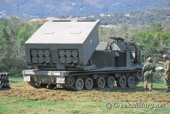 Hellenic Army M270A1 MLRS.