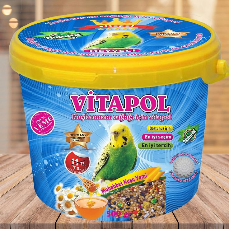 Vitapol premium muhabbet kuş yemi 500 gr www.yemcibaba.com