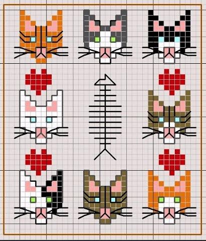 cat cross stitch