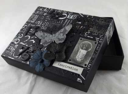 incredible #black #box made by Tores with 3rd Eye #stamp from { TES-041 lightbulbs } set <3
