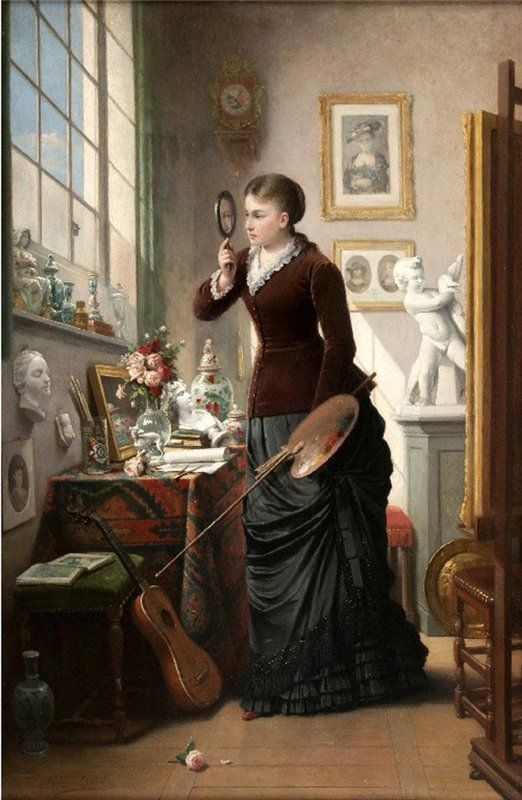 An Eye For Details or Attention To Detail by  François Jacobs ~1832-1906~ (1) From: My Ear Trumpet Has Been Struck By Lightning, please visit