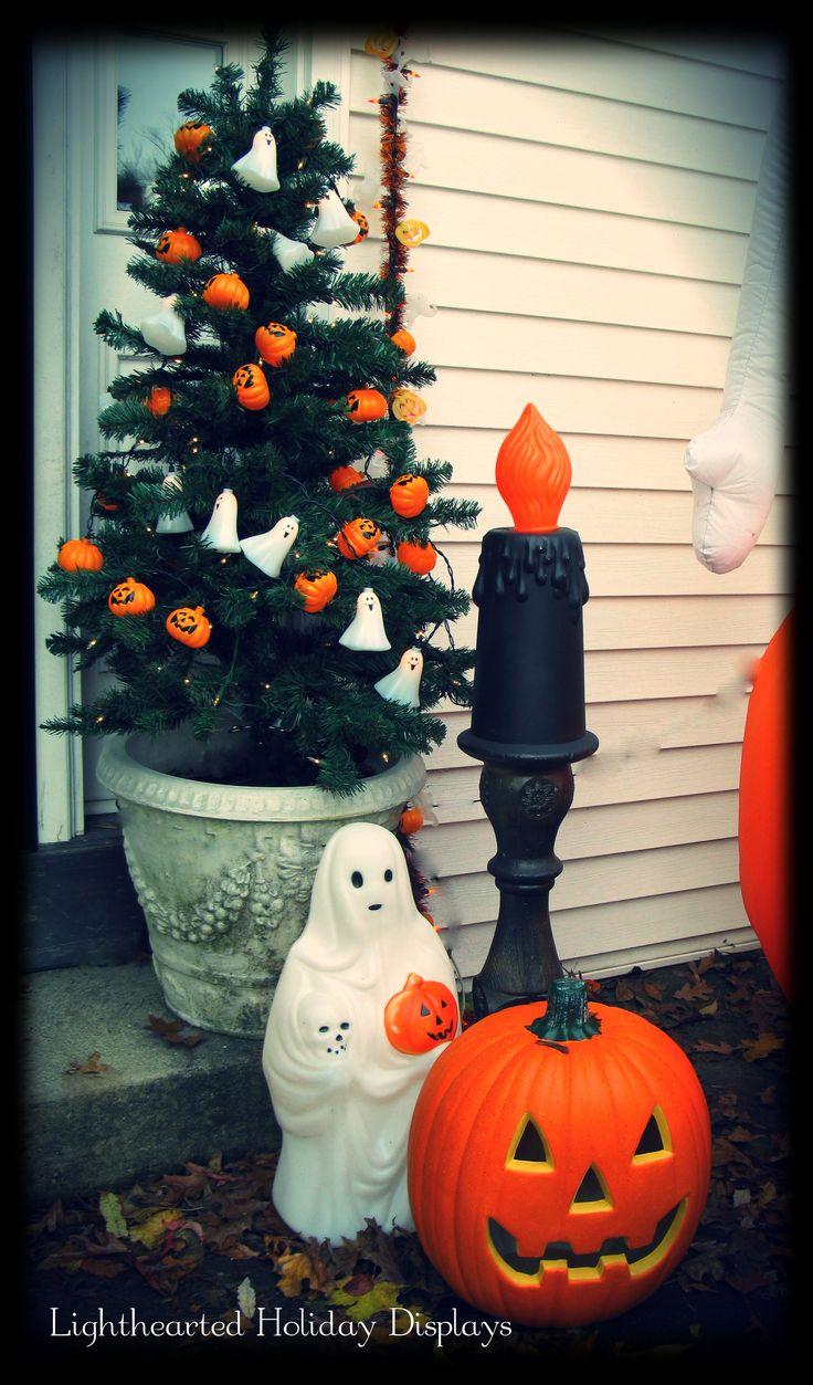 Vintage halloween decorations plastic - Vintage Style Front Porch Decor