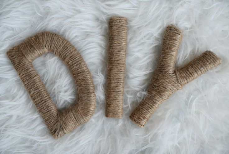 DIY Twine Wrapped Letters - Great for Wedding or Home Decoration!