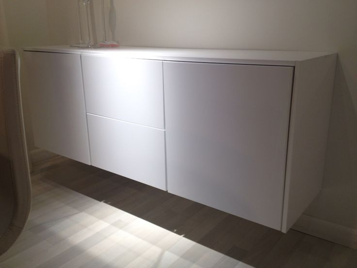 sektion cabinet series ikea mount cabinets low on wall to create a floating credenza