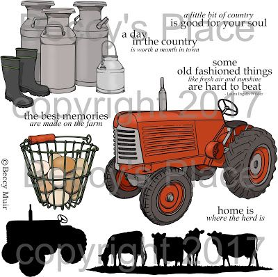 Beccy's Place - Farm Fresh digital stamp set