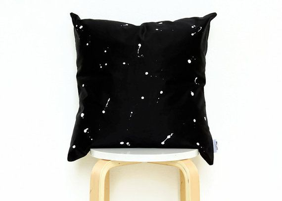 Minimalist Black pillow cover, black and white pillow cover,black throw pillow,modern pillow, scandinavian pillow,space pillow,cool pillows