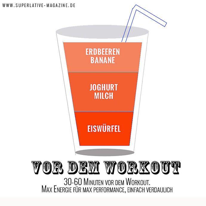 Pre Workout Smoothie Rezept für vor dem Workout
