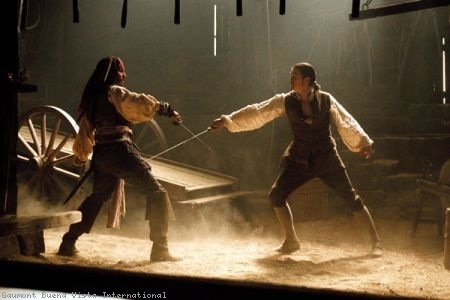 pirates of the caribbean- black pearl curse  Will Turner: You cheated.   Jack Sparrow: Pirate.