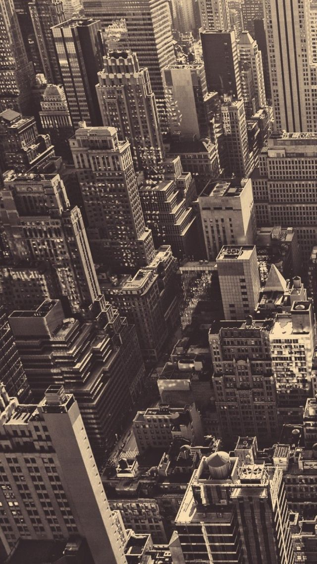 Vintage New York City Aerial View iPhone 5 Wallpaper / iPod Wallpaper HD - Free Download