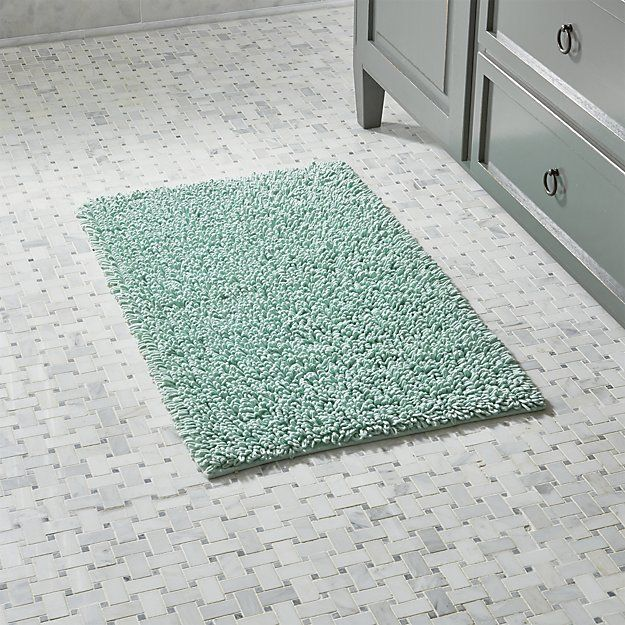 Loop Seafoam Green Bath Rug | Crate and Barrel