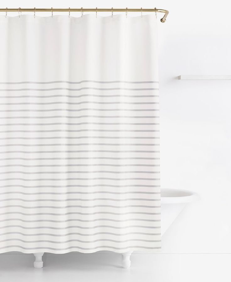 kate spade new york Harbour Stripe Shower Curtain - Shower Curtains - Bed & Bath - Macy's