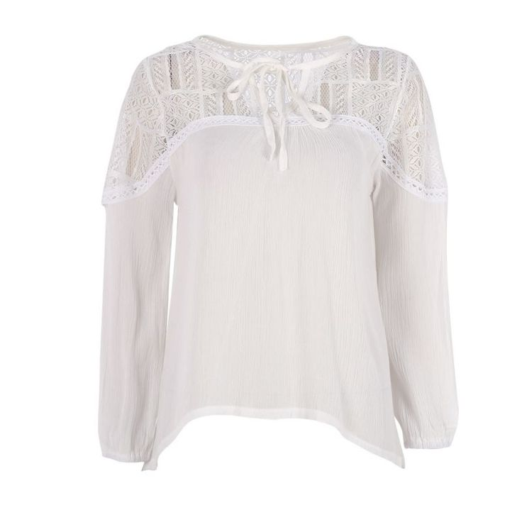 >> Click to Buy << Fashion Sweet Women's Lace Tops Tee Long Sleeve Blouse Casual Transparent  Blouses Loose Clothing #Affiliate
