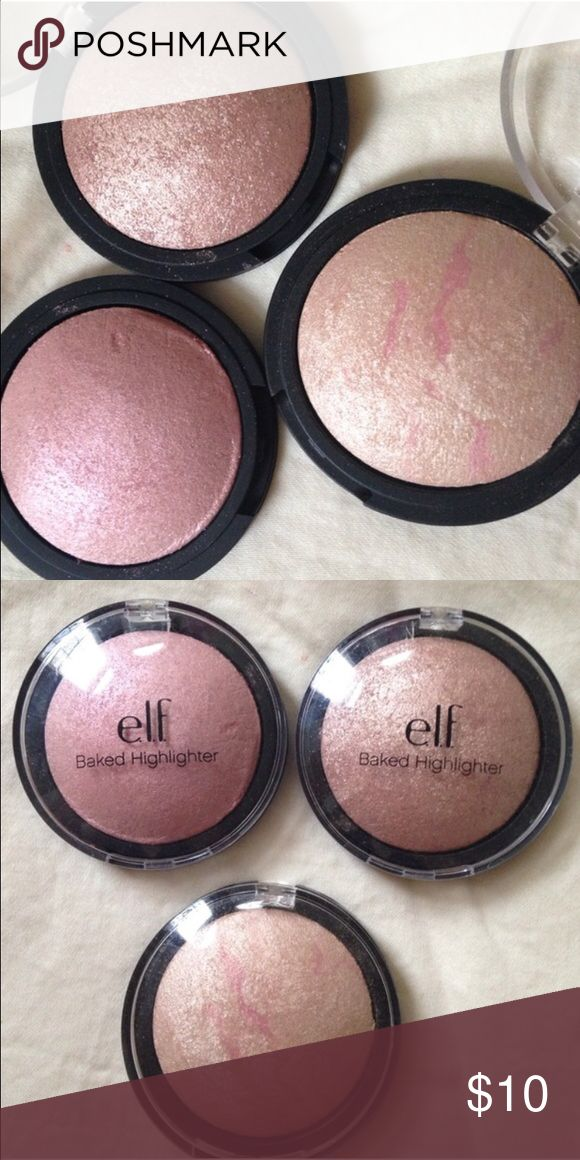 ELF highlighter bundle 3 pcs highlighter bundle! Used a couple of times each. ELF Makeup Luminizer