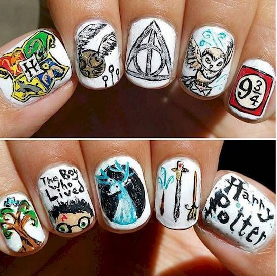 Love Harry Potter? These Nail Designs Will Put A Spell On You - Likes