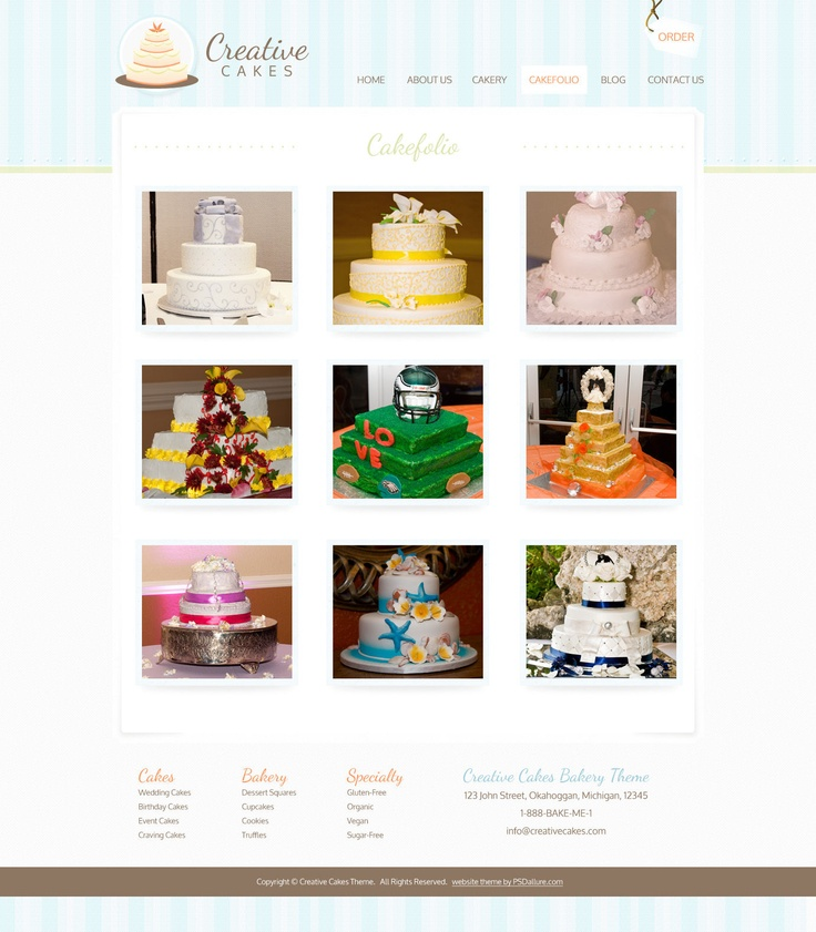 Cake Design Web Templates : 17 Best images about cake business website on Pinterest ...