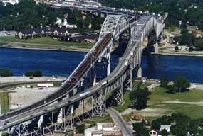 Blue Water Bridge, Sarnia, Ontario and Port Huron, Michigan: Water Bridges Looks, Water Bridge Looks, Twin Bridge Canada, Bridge Canada Info, Bridge Long, Irons Bridges
