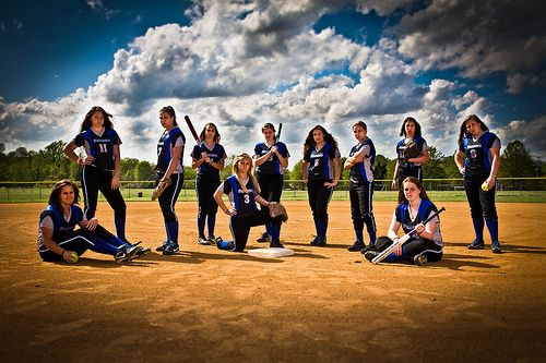 Softball Group Shot with Attitude | Flickr - Photo Sharing!