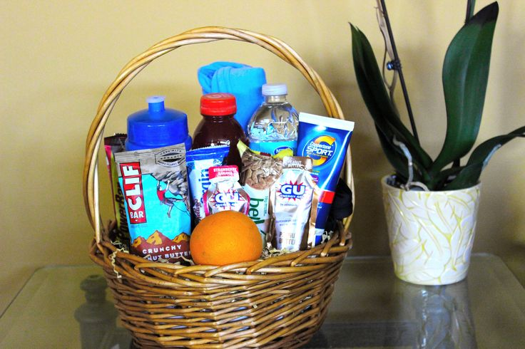 13.1 half marathon gift basket. The perfect pre or post race gift for the runner in your life.  http://RunnersPaceGifts.com