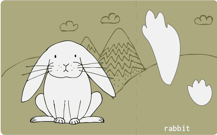 montessori animal foot steps cards