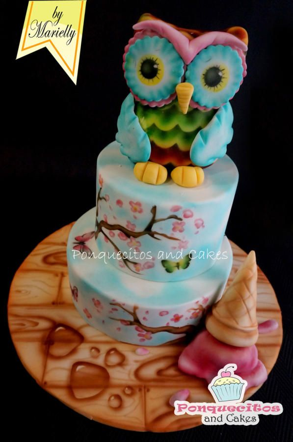 Airbrush painting Cake II - Cake by Marielly Parra