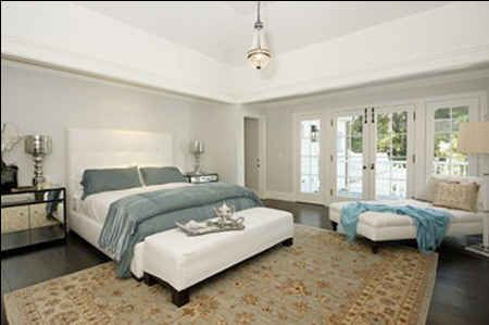 Calista Flockhart and Harrison Ford's bedroom
