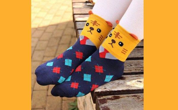 Des chaussettes « chat homme d'affaires »