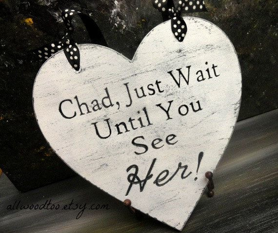 Engraved Ring Bearer Sign Rustic Photo Prop Rustic by AllWoodToo If offer a variety of sayings on my signs.  I also offer #CustomSigns. #JustWaitUntilYouSeeHerSigns, $20