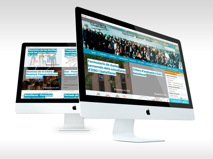 Web para l'Institut Ernest Lluch - #web #laende #webdesign #school