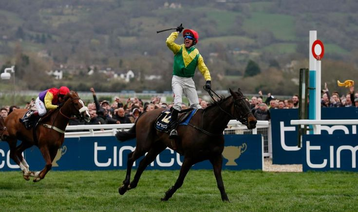 March 18 2017 - Robbie Power leads Sizing John to Gold Cup victory at @CheltenhamRaces