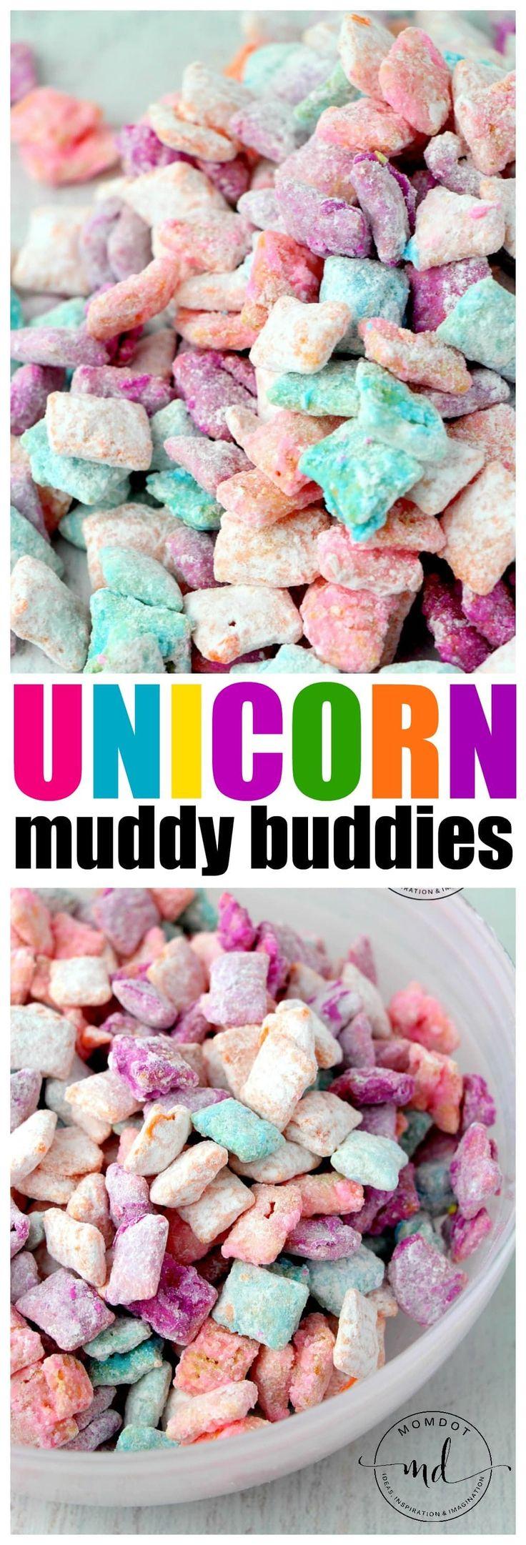 Unicorn Poop Muddy Buddies: Easy Chex Mix Muddy Buddy Recipe for a rainbow unico…