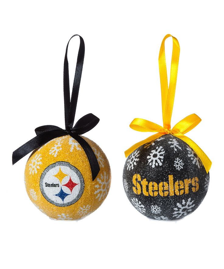 Take a look at this Evergreen Pittsburgh Steelers LED Ornament Set on zulily today!