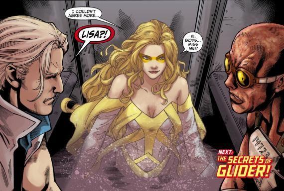 Capitán Frío, Golden Glider y Ola de Calor en los cómics de Flash
