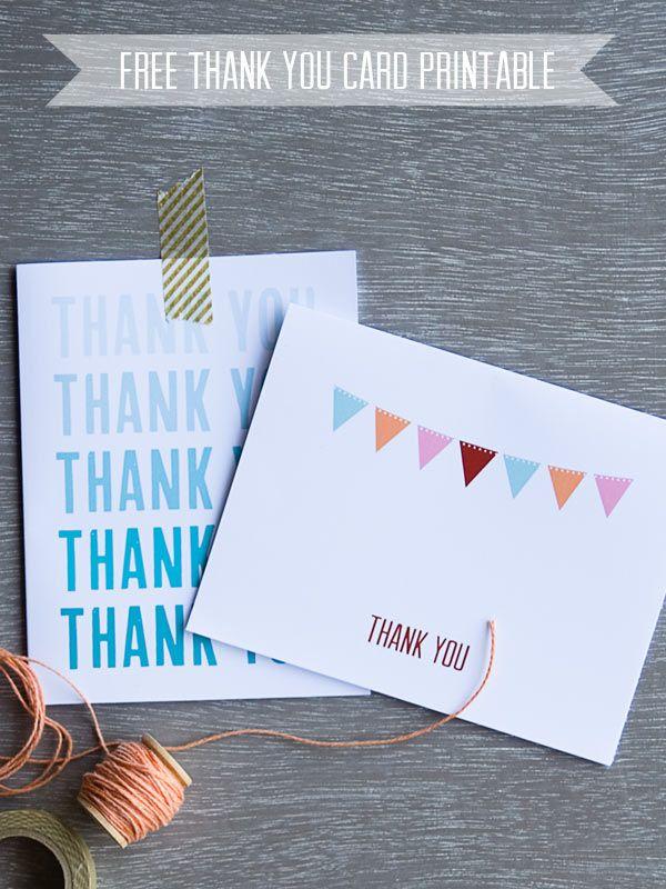 Cartes de remerciements