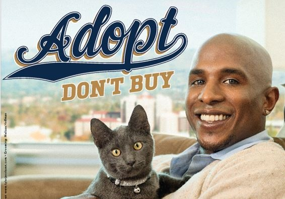 Milwaukee Brewers outfielder Nyjer Morgan says 'Adopt, Don't Buy'