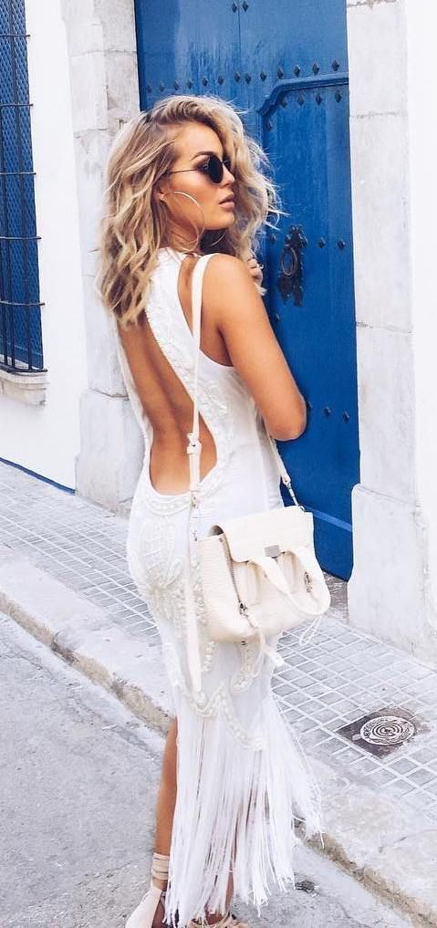 Open Back Top Outfits set the Fashion Ramps Ablaze