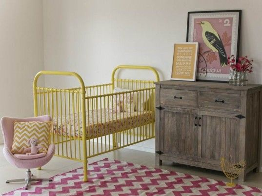 incy interiors offers three new timeless baby cots in metal: the clancy in gorgeous yellow, the declan in eye-popping spearmint, and the romy in oh so pretty pale pink.